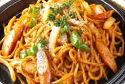 100%有機トマトケチャップの ナポリタン焼きそば(太麺)